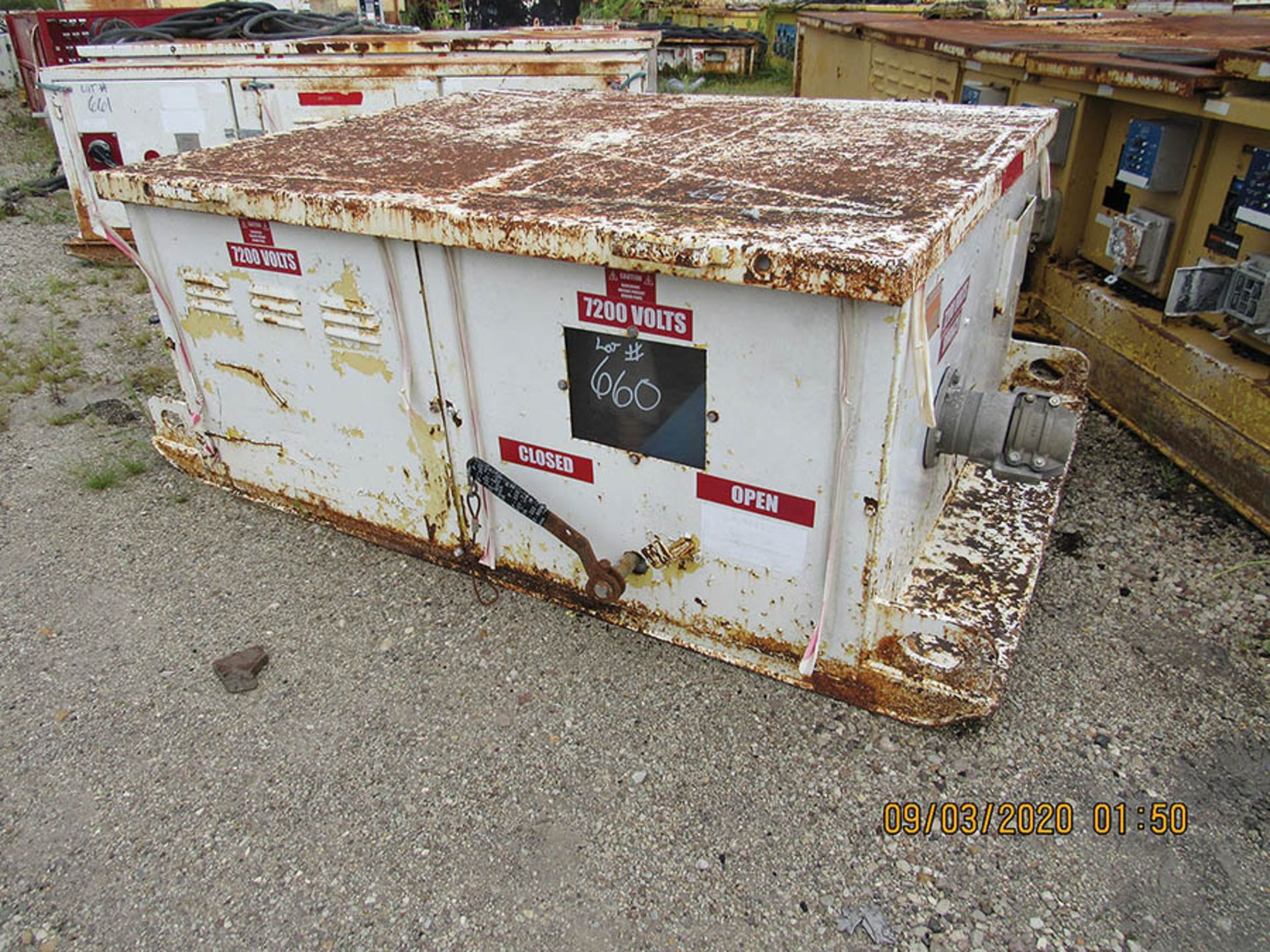 Lot 660 - AMERICAN ELECTRIC EQUIPMENT POWER CENTER, 7,200 V., S/N 9855-397