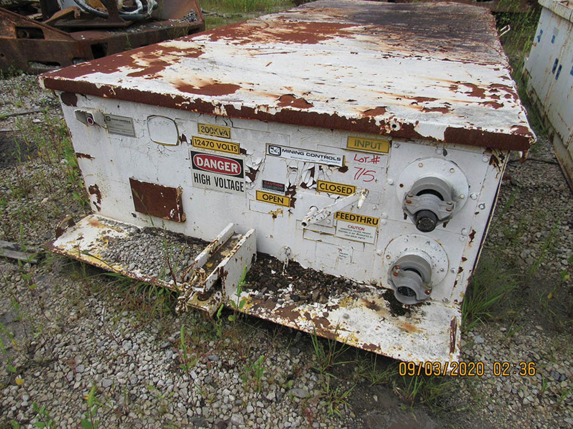Lot 715 - MINING CONTROL INC., MODEL 32177-48460-698, 300 KVA POWER CENTER, 12470-480V