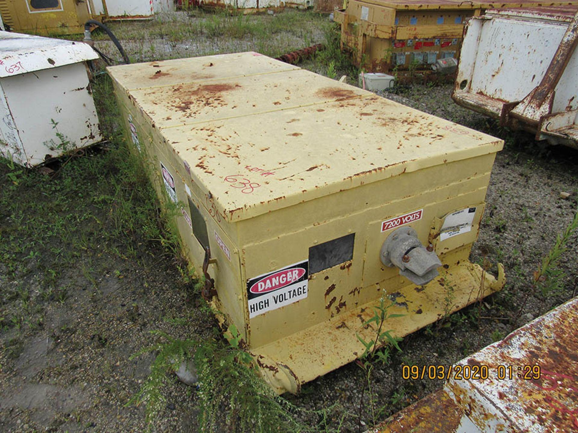 Lot 638 - AMERICAN ELECTRIC EQUIPMENT POWER CENTER, 7,200 V., S/N 10031-1196