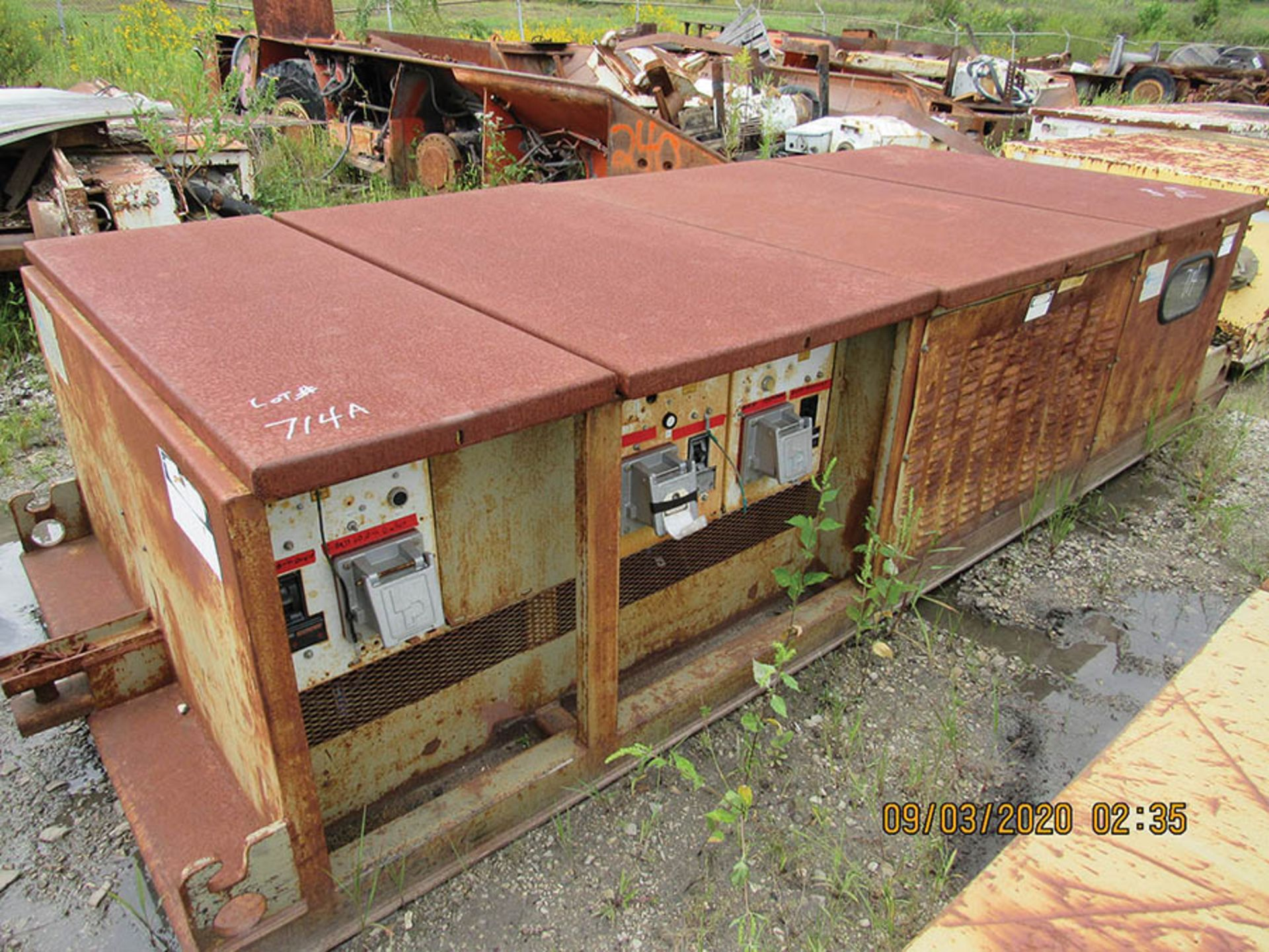 Lot 714A - LINE POWER CO. MODEL 300PBC POWER CENTER, S/N 8814, INPUT 12470 VAC 30.60HZ AC OUTPUT 480 VAC.30.