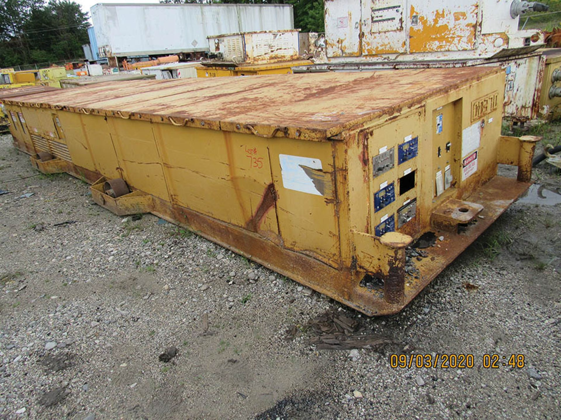 Lot 735 - LINE POWER CO. MODEL 300KVA PC POWER CENTER, S/N R3032, INPUT 13200/7620 VAC 3 PH. 60HZ AC OUTPUT