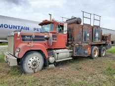 1991 MACK RW600 T/A LUBE TRUCK, EATON FULLER TRANSMISSION, MACK INLINE SIX ENGINE, VIN