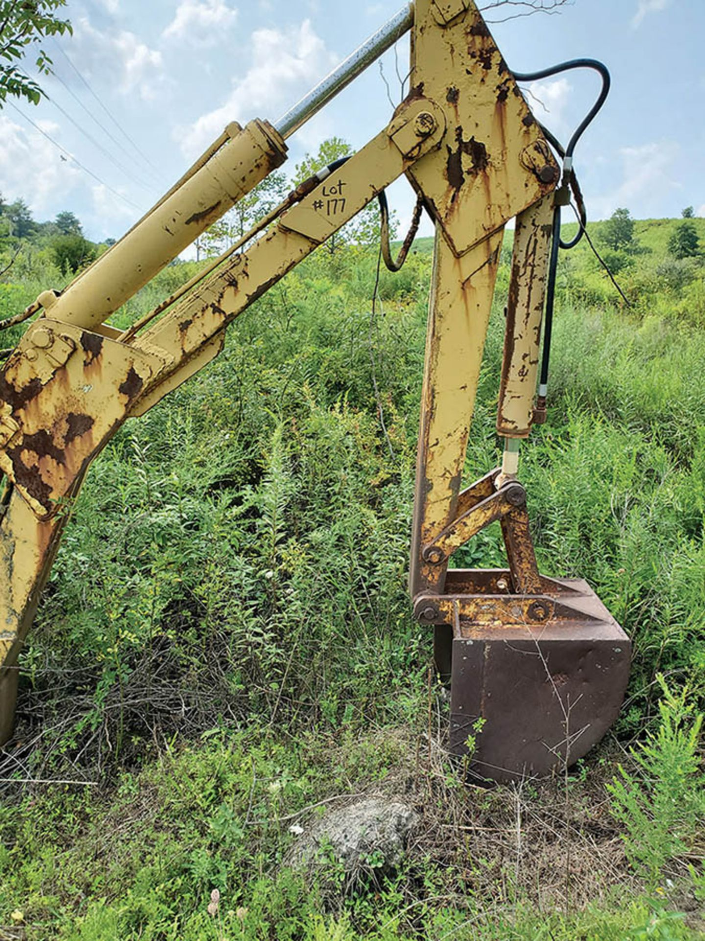 Lot 177 - WARE HYDRO TRENCHER BACKHOE ARM, LOCATION: PINNACLE SHOP