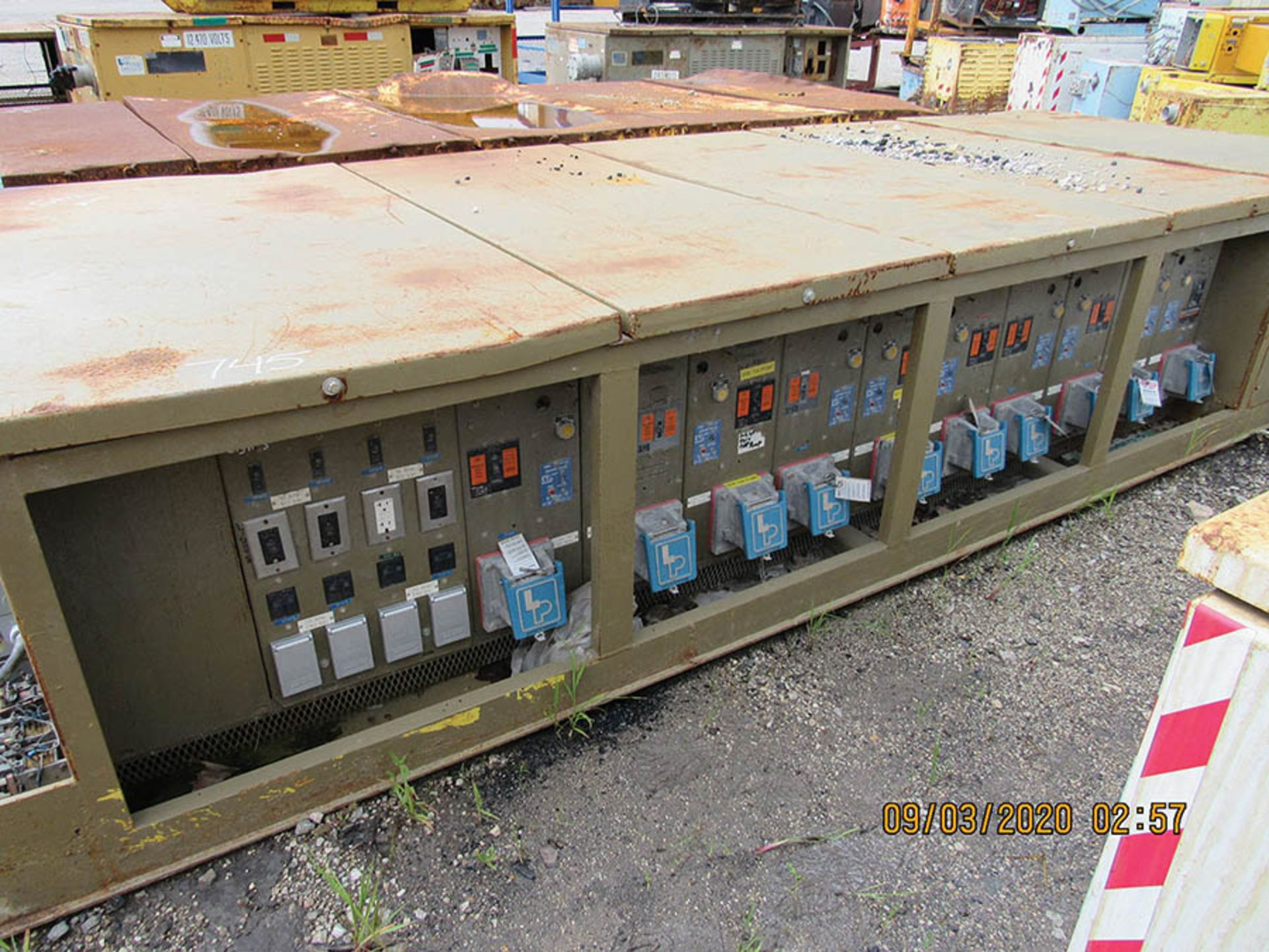 Lot 745 - LINE POWER CO POWER CENTER, S/N R1138, 12470 VAC 30 60HZ IN, AC OUTPUT 480V 30 60HZ