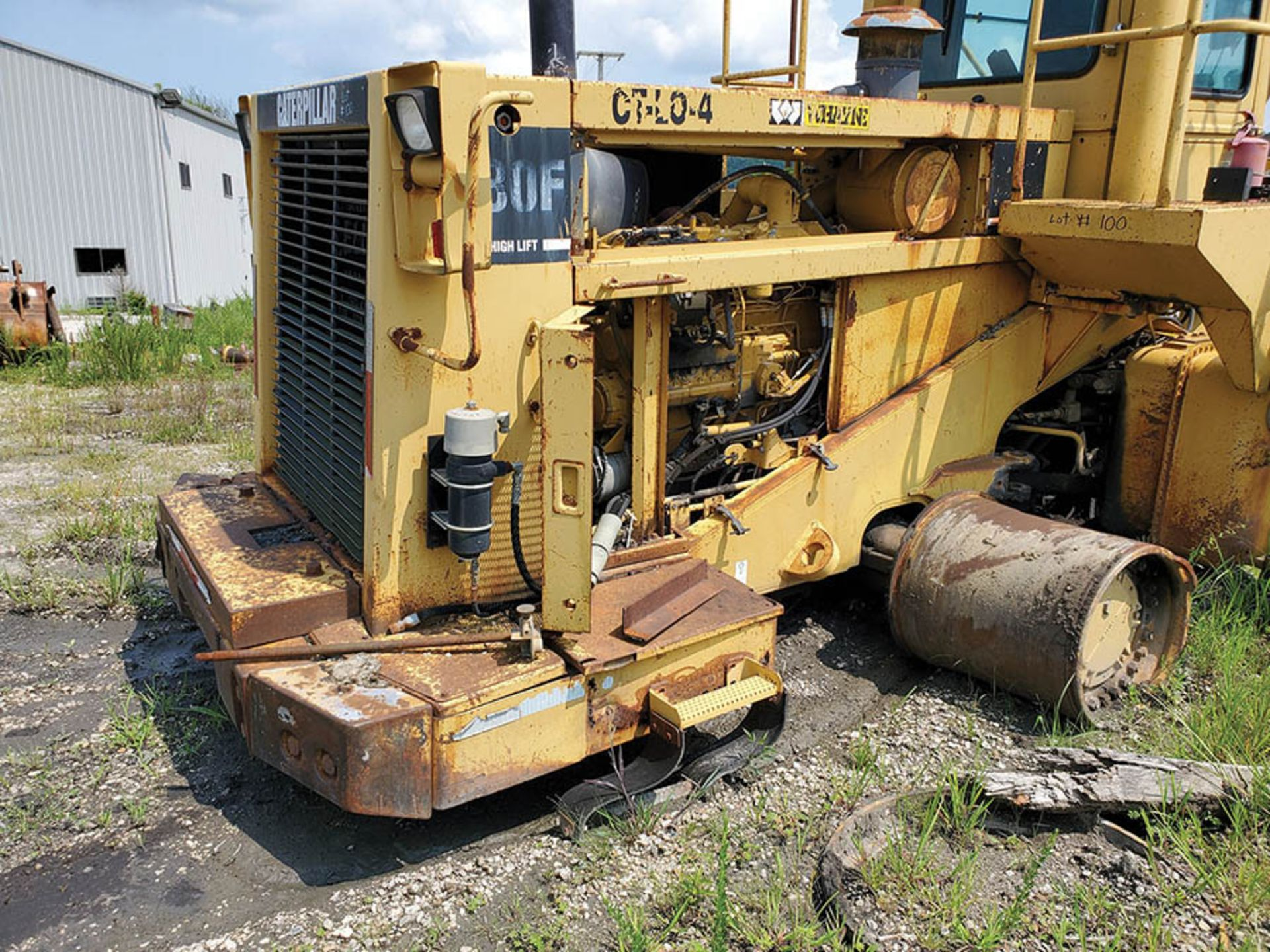 Lot 100 - CATERPILLAR 980F HIGH LIFT WHEEL LOADER, S/N: 8W00966, 79,444 HOURS SHOWING, CAT 6-CYLINDER TURBO