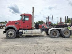 2009 MACK GU713 T/A DAY CAB TRACTOR, MAXITORQUE 18 SPEED TRANS., WET LINES MACK INLINE SIX DIESEL
