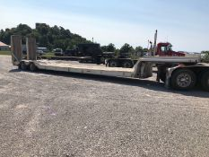 DOUBLE DROP T/A TRAILER WITH HYDRAULIC RAMPS, 25' 9'' DECK, LOCATION: MARCO SHOP