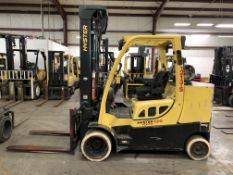 2013 HYSTER 12,000-LB. CAPACITY FORKLIFT, MODEL: S120FT, S/N H004V02621L, LPG, FINGERTIP CONTROLS,