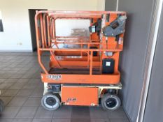 2015 JLG 12' ELECTRIC SCISSOR LIFT, MODEL: 1230ES, S/N: 0200240893, 500-LB. CAPACITY, 12' PLATFORM X