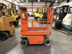 2015 JLG 12' ELECTRIC SCISSOR LIFT, MODEL: 1230ES, 500-LB. CAPACITY, 12' PLATFORM X 30'' W, 241 HRS.