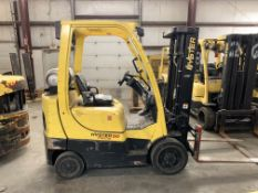 2012 HYSTER 5,000-LB., MODEL: S50FT, LPG, LEVER SHIFT TRANSMISSION, SOLID TIRES, 7,523 HRS
