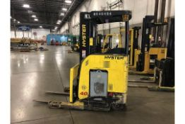 2010 HYSTER 4000 LB REACH TRUCK MODEL N402R-16.5, S/N D4 70-02454H, THREE STAGE MAST, 191'' LIFT
