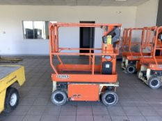 2015 JLG 12' ELECTRIC SCISSOR LIFT, MODEL: 1230ES, S/N: 0200241006, 500-LB. CAPACITY, 12' PLATFORM X