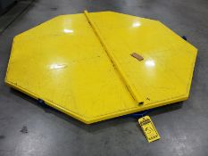 6,000 LB. 72'' X 72'' OCTAGON ROTARY FLOOR TURN TABLES, MODEL CA-72-6