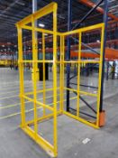 (3) STEEL PALLET STACKER FRAMES, 55 1/2'' X 53'' X 97'' TALL