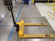ULINE 3,300 LB. HYDRAULIC PALLET JACK,  WIDE BASE, MODEL H-1781