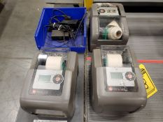 (3) DATAMAX-O'NEIL THERMAL LABEL PRINTER, MODEL E-4206P, E-CLASS MARK 3 FAMILY WITH (3) POWER