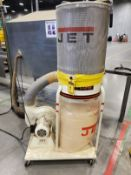 JET VORTEX CONE PORTABLE DUST COLLECTOR, MODEL DC-1100VX, 1.5 HP, 115/230V BOTTOM REPLACEABLE BAG,