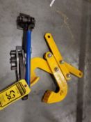 (2) STRAPPING BENCH TOOLS & GRAVITY CLAMP, CIRCULAR SAW & IMPACT WRENCH
