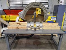 DEWALT 12'' DOUBLE BEVEL COMPOUND MITER SAW WITH ROUSSEAU 5000 DUST SOLUTION CANOPY, ON CUSTOM