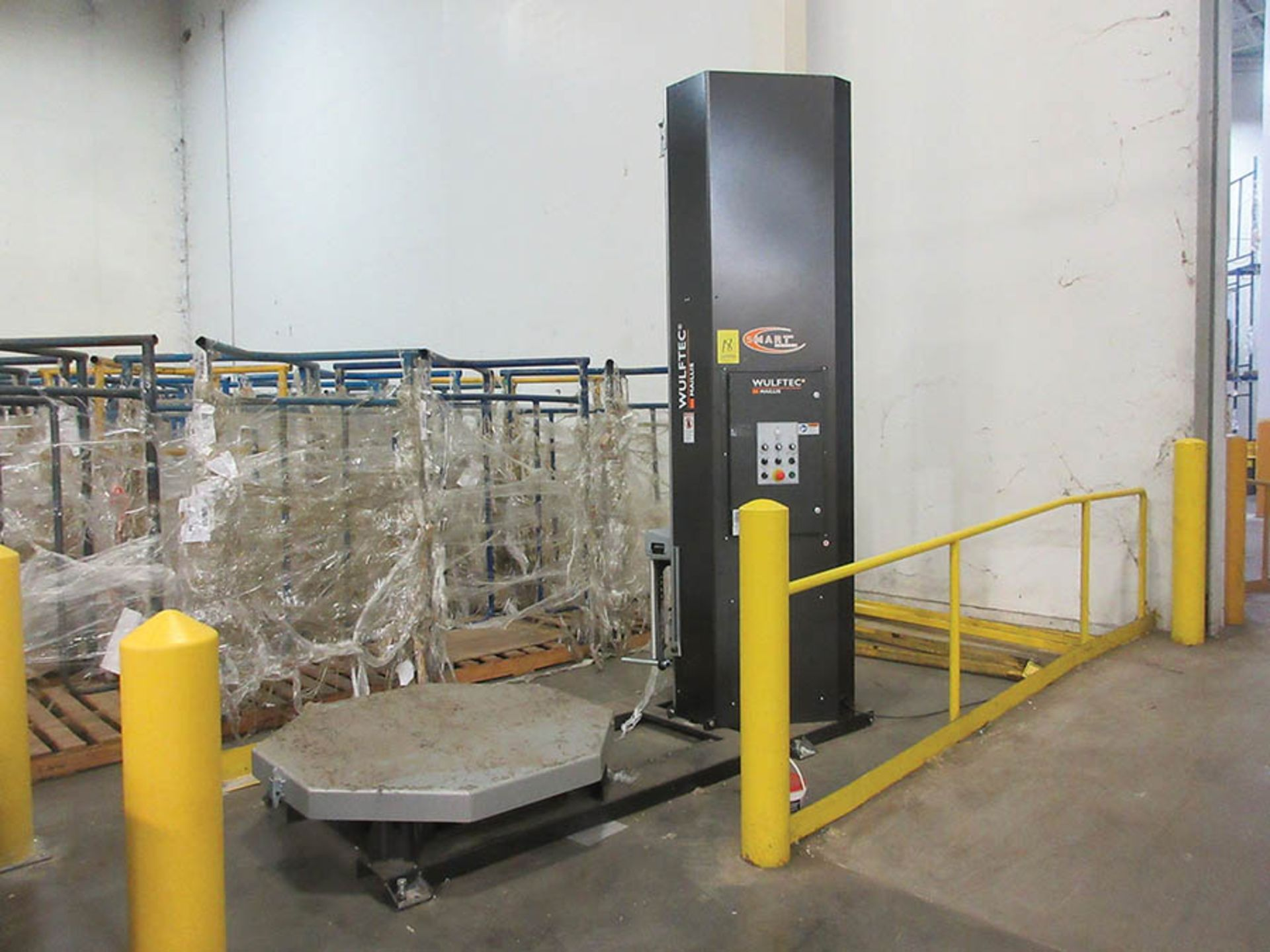 Lot 18 - WULFTEC MAILLIS STRETCH WRAPPER, SMART SERIES, MODEL: WSMH-150-B, 120/60/1, 51'' TABLE, S/N 156121-