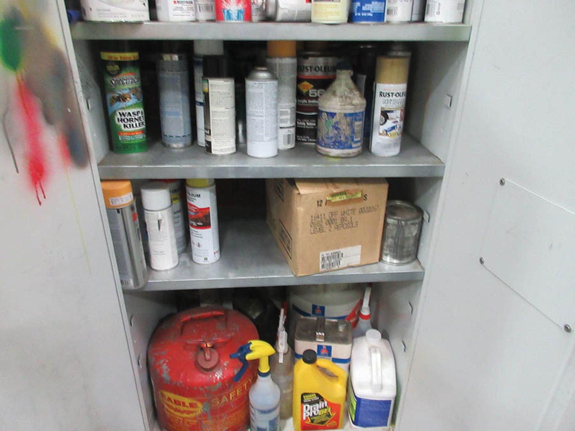 Lot 5 - SECURALL FLAMMABLE LIQUID STORAGE CABINET, W/ CONTENT