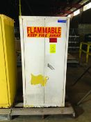 EAGLE FLAMMABLE STORAGE CABINET, MODEL 1962, 60-GAL CAPACITY