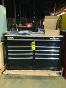 FRONTIER 46'' 9-DRAWER TOOL CABINET, WOOD TOP (NEW)