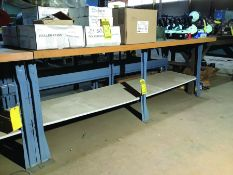MAPLE TOP 8'X 3' INDUSTRIAL WORK TABLE (X2)