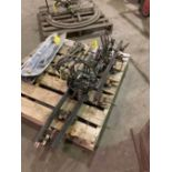 (2) MINSERCO TRACK TORCHES W/ (3) SECTIONS OF MAGNET MOUNTED RUBBER TRACK, MODEL: IK-72T