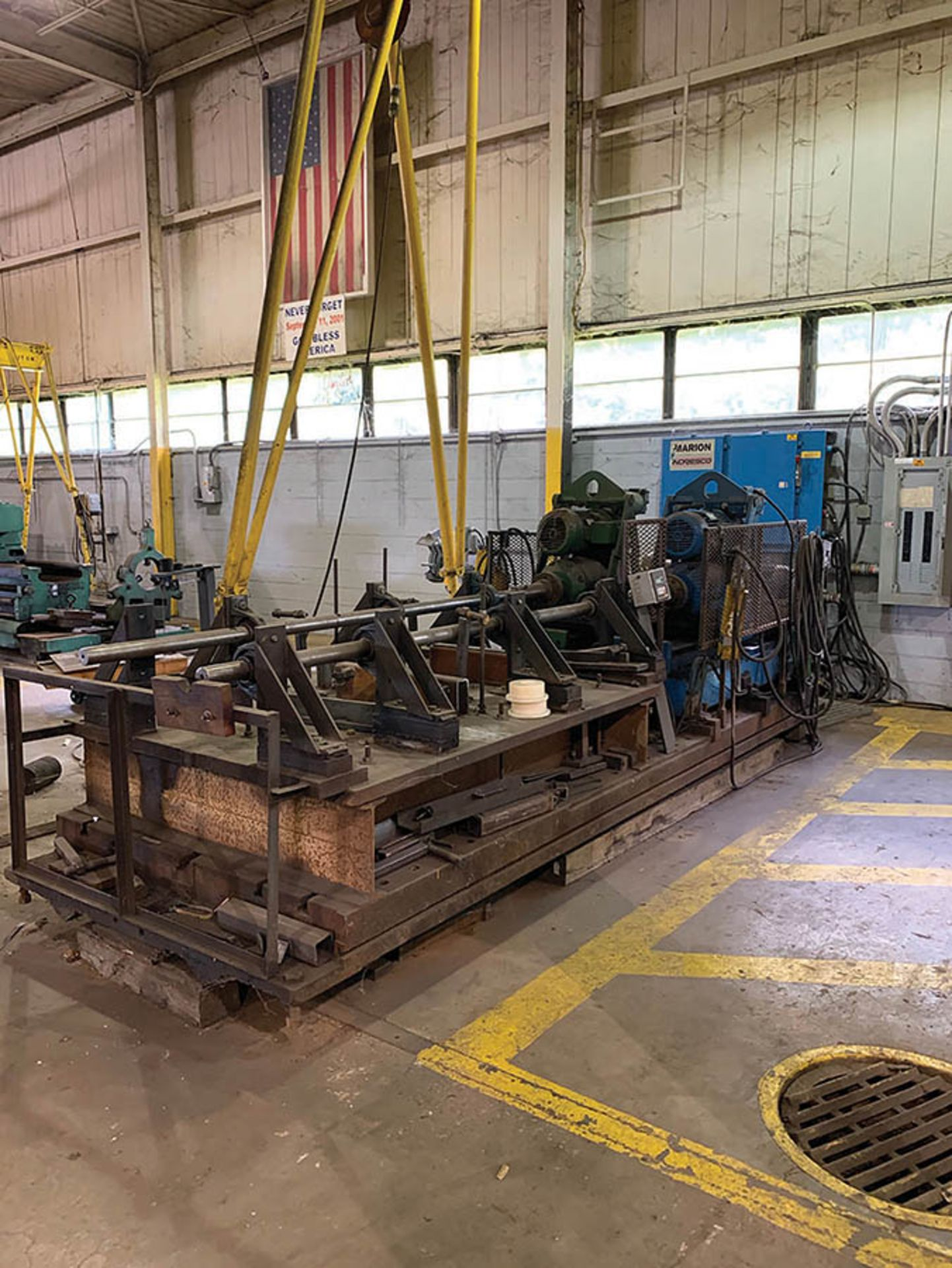 REEVES SPECIAL BUILT BORING MILL, 480V WITH (2) ELECTRIC CONTROL MODULES