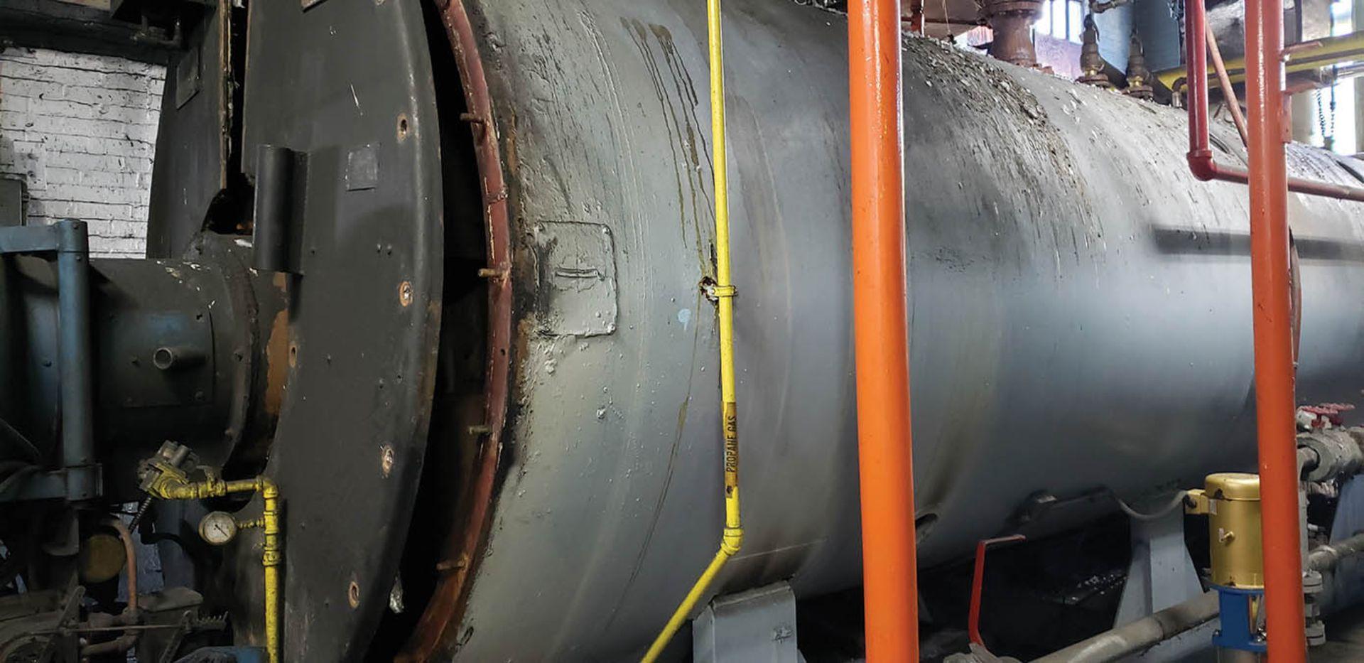 1958 AMES 500 HP #4 OIL BOILER, 150 LBS. MAX. PRESSURE, S/N 60017 - Image 3 of 4