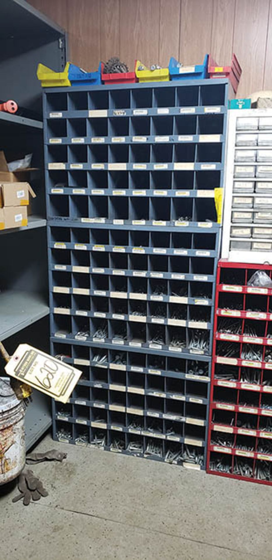 Lot 619 - BOLT BINS & DRILL INDEXES W/ CONTENT