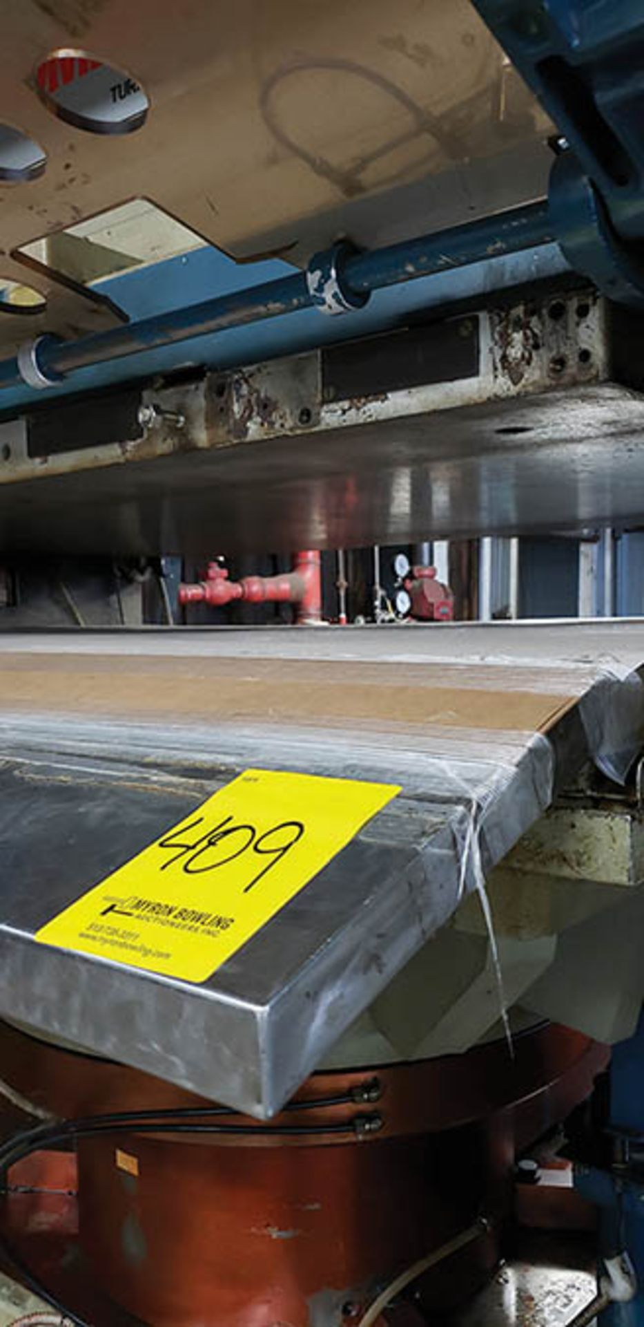 Lot 409 - 1995 TAMBONI 850-TON UP ENDING HYDROPLATING/EMBOSSING PRESS, TYPE 085, S/N 443, 1370 MM X 1000 MM