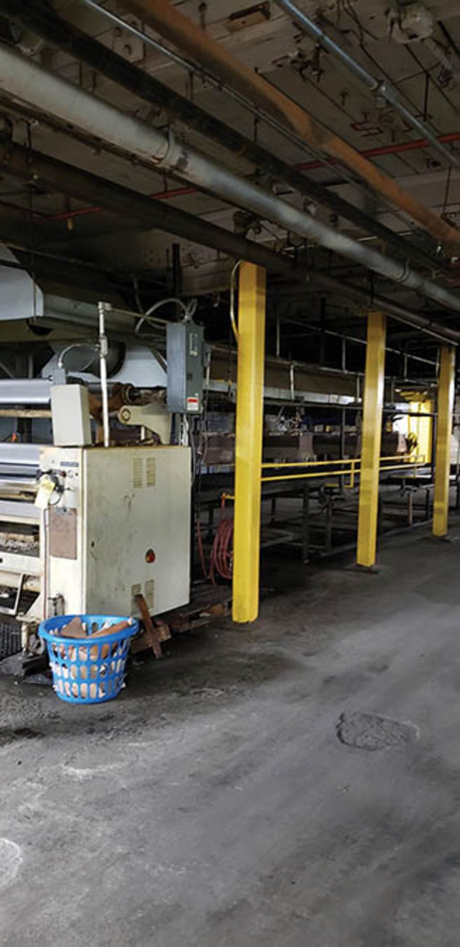 1996 GEMATA ROTOCOAT REVERSE 3-ROLL OIL/WAX COATER LINE (8) HEATERS, BELT CONVEYOR5' X 30', 75 1/4'' - Image 2 of 7