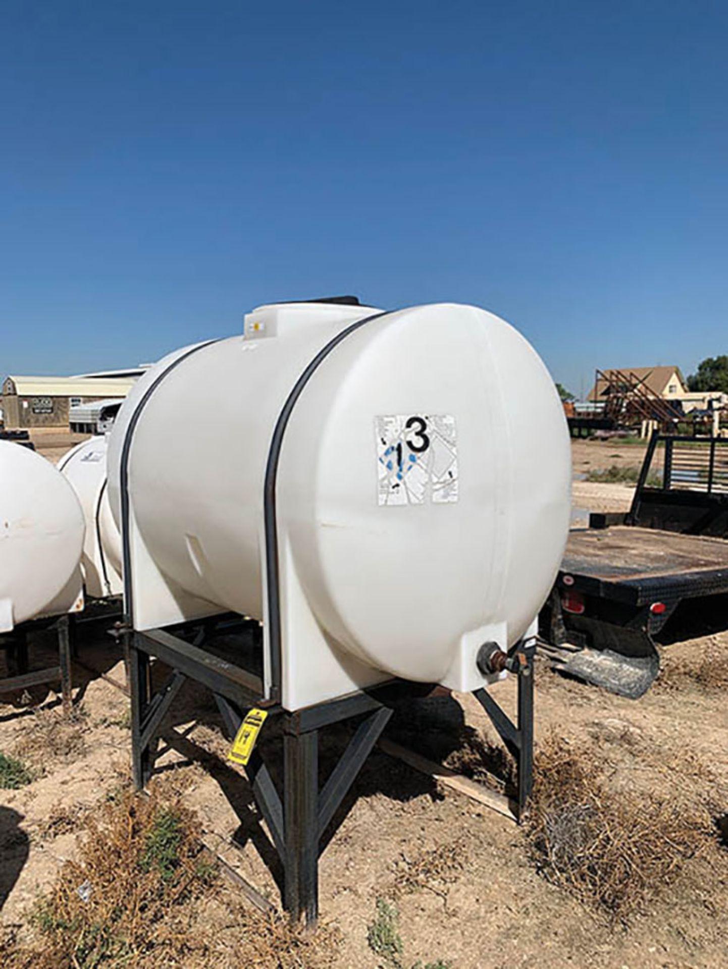 PLASTIC CHEMICAL TANK, 550 GAL. CAP.