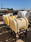 (3) PLASTIC CHEMICAL TANKS, 65 GAL. CAP.