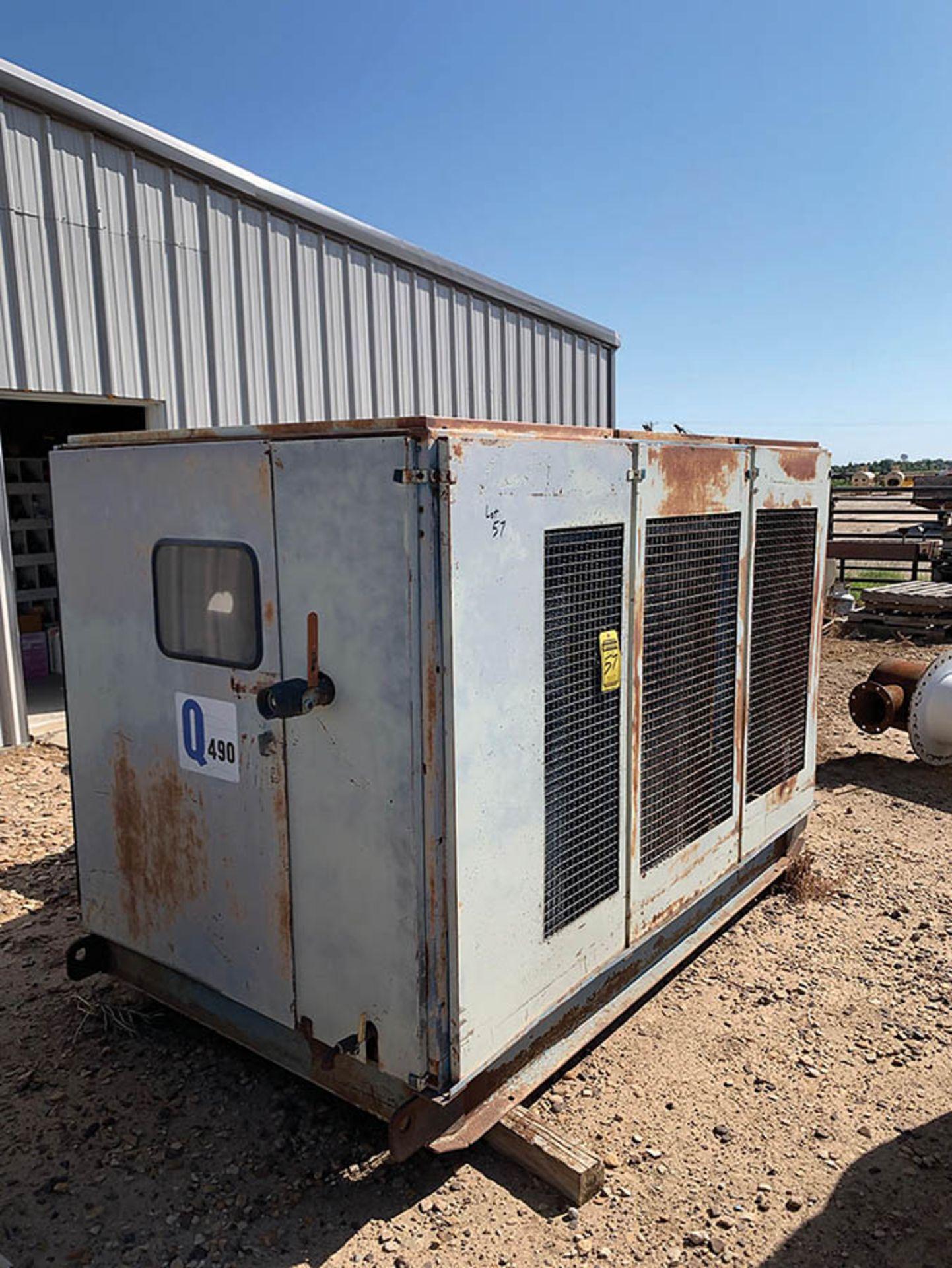 QUINCY, MODEL Q490, PORTABLE 100 HP, DIESEL POWERED AIR COMPRESSOR