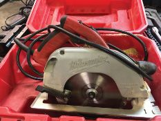 MILWAUKEE ELECTRIC 7 1/4'' CIRCULAR SAW ADJUSTABLE HANDLE, CAT#6390-20, S/N S83B804461370
