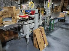 3M-MATIC CASE SEALING SYSTEM WITH (2013) FOXJET 800A DRO PRINTER & OUTFEED BELT CONVEYOR