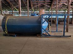 NOVATEC 64'' DIA SILO BIN ON LEGS, 210'' TALL FOR NOVATEC DRYER & 10 HP BLOWER FOR NOVATEC DRYER