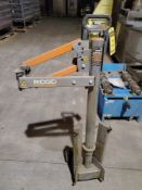 RIDGID R7133 PORTABLE DRILL STAND, OUTRIGGERS, STABILIZING ARM