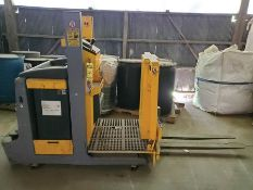 2002 JUNGHEINRICH 1,000 KG ELECTRIC STAND UP REVERSE STOCK PICKER, MODEL ECP-100-3 ZG 115-110 E,