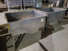 (2) STAINLESS STEEL BASIN CARTS