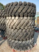 (4) PERFORMAX 20.5-25 FRONT END LOADER TIRES (GOOD CONDITION, USED)