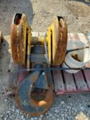 DEMAG 40-TON CRANE CABLE HOIST REEL BLOCK WITH CM STB HOOK
