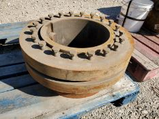 RING FITTER COUPLER ROTOR TO DRIVE SHAFT, 14'' DIA.
