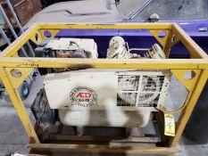INGERSOLL-RAND T30 HORIZONTAL AIR COMPRESSOR, MODEL 242F10G, KOHLER MAGNUM 10 GAS ENGINE, MOUNTED ON