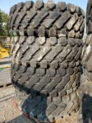 (4) (NEW) PERFORMAX 20.5-25 FRONT END LOADER TIRES (NEVER USED)