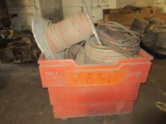 PLASTIC CART W/ ASSORTED TORCH HOSE